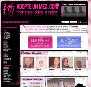 Adopte un mec en ligne