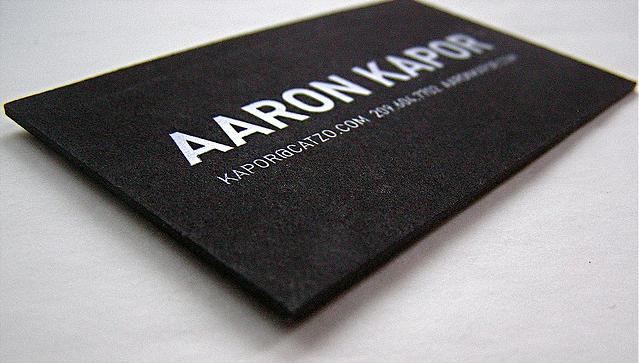 carte de visite aaron kapor