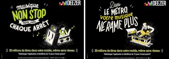 campagne affichage deezer