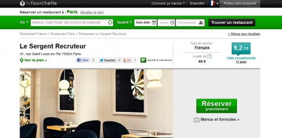 FicheRestaurant 2 - LaFourchette.com