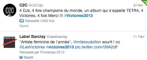 victoires tweets