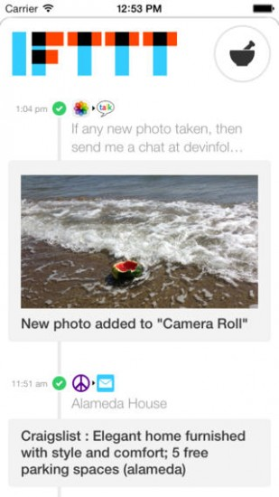 IFTTT screenshot 2