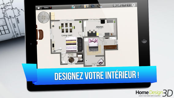 Bon app home design 3d application d architecture et Design your house app