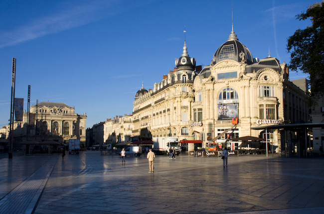 Centre of Montpellier in the morning