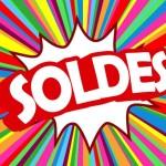 """Affiche """"SOLDES"""" (shopping offre spéciale publicité marketing)"""
