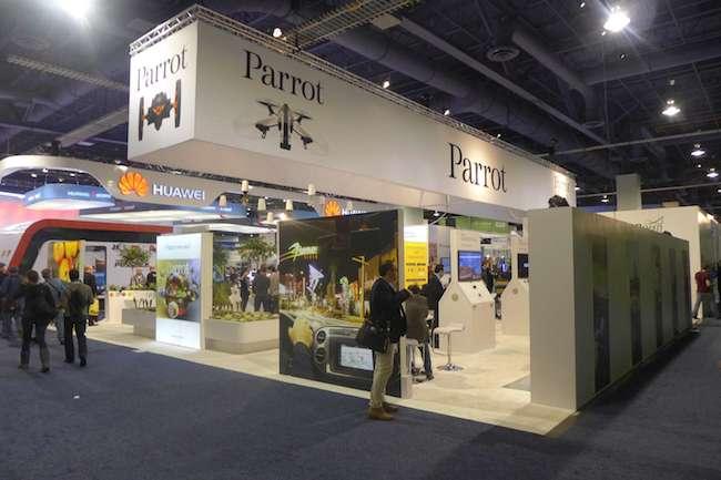 Le stand de Parrot au CES 2014 de Las Vegas, juste à côté de Huawei !