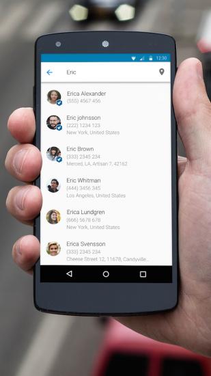Capture de l'application Android de Truecaller. Crédit: Truecaller.