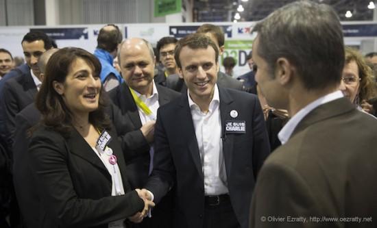 Emmanuel Macron et Maryam Bini (Soledge)