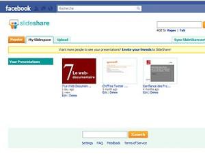 Slideshare Facebook