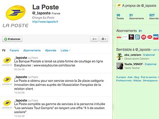 Twitter de La Poste