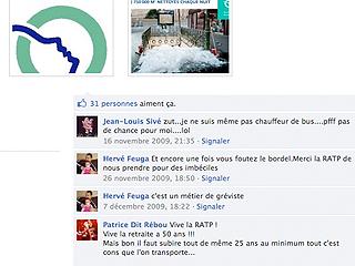 Page Facebook de la Ratp