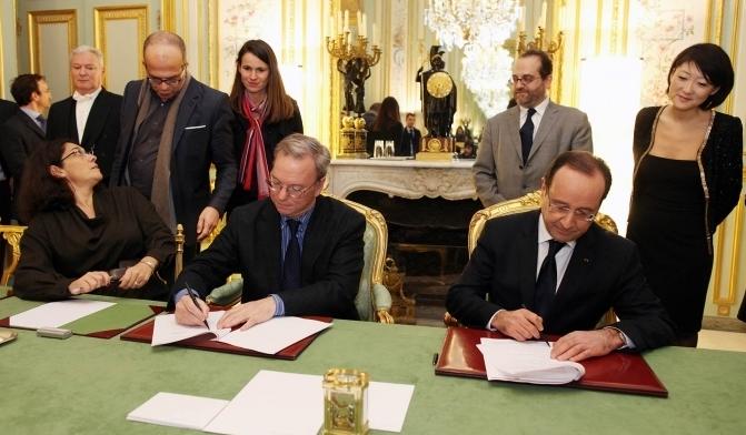 Accord gouvernement français et google au sujet de google actualités