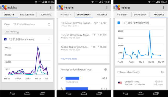Insights reports mobile